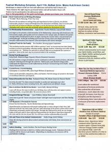 Belfast schedule 2015