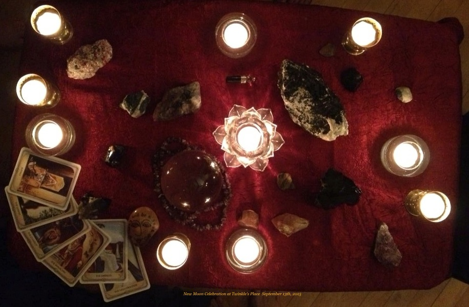 New Moon altar 9 13 15 crop