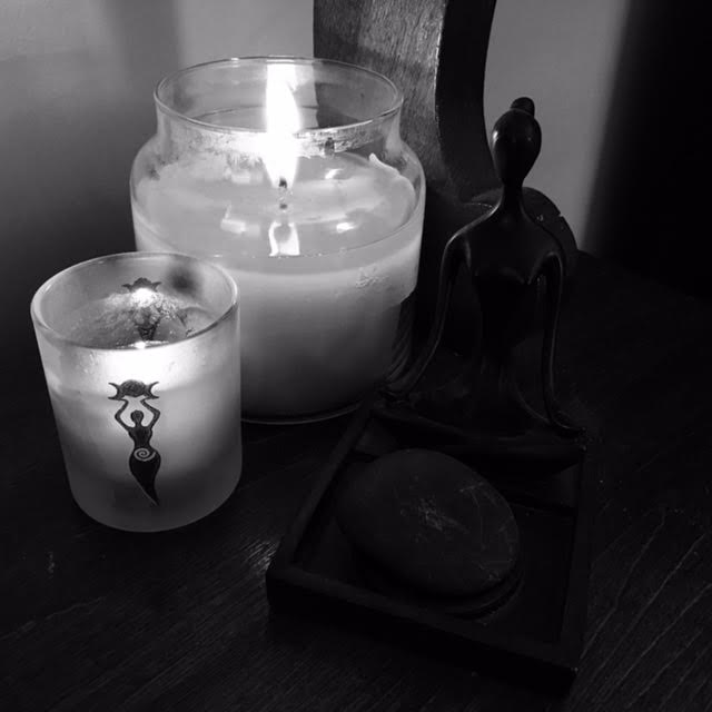 new moon goddes candles